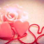 ハートと薔薇の花